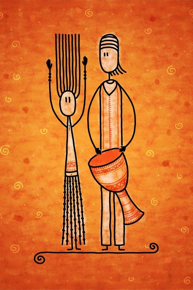 Wallpapers Catalogue Com Drawn Wallpapers African Drum