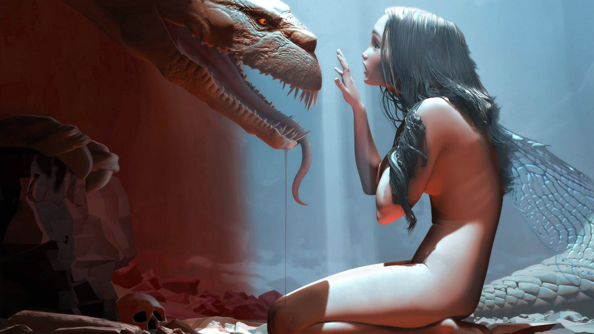 Videos of 3d monsters licking women's pussy exposed image