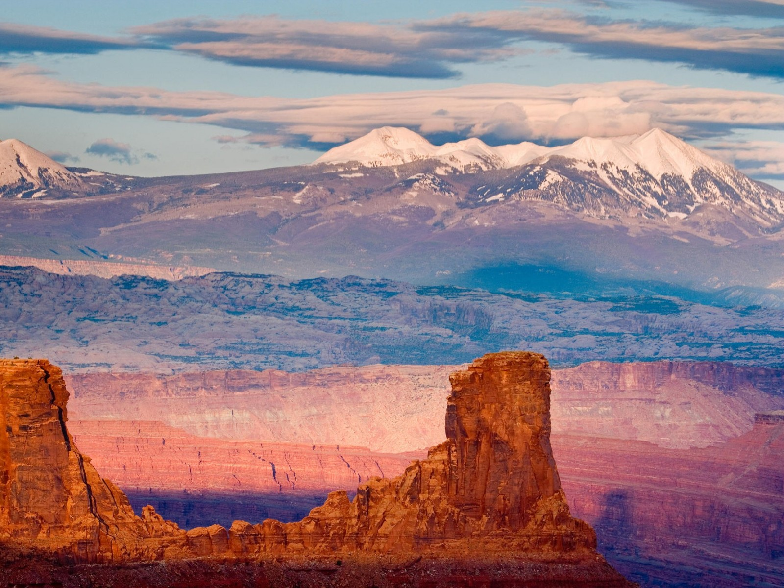 Utah photo wallpapers - La Sal Mountains From Dead Horse State Park