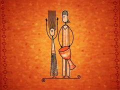 Drawn wallpapers - African drum