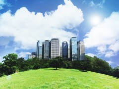 Green green city wallpaper