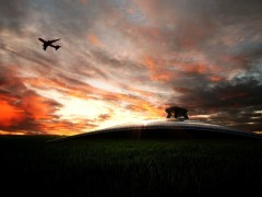 HDR wallpapers - plane in the sky