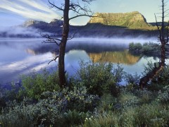 Trapper's Lake at Sunrise, White River National Forest, Colorado desktop background