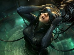 Techno wallpapers - cyber girl