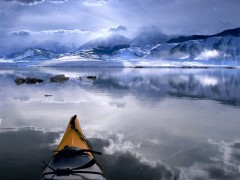 Winter Kayaking, Mono Lake, California