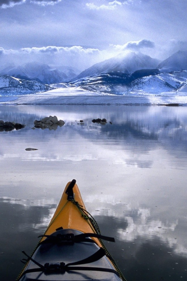 Winter Kayaking Mono Lake California