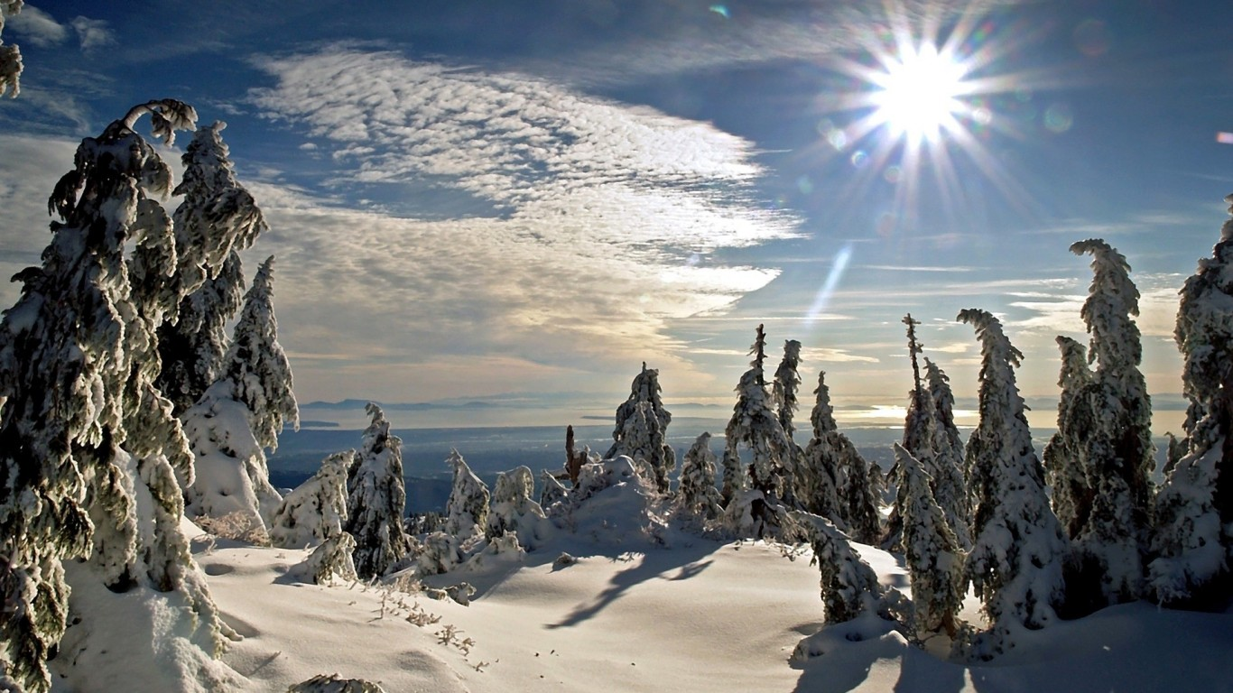 Wallpapers Catalogue Com Winter Sun In 1366x768 Resolution